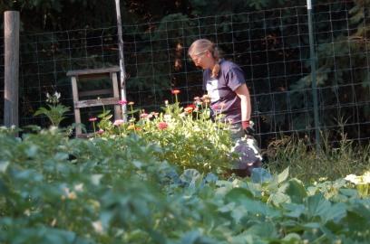 Me in my garden.