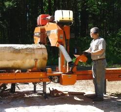 Bob and his portable sawmill.