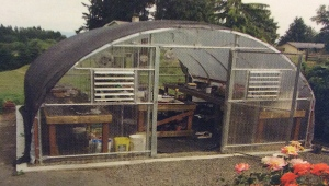 An almost replica of the hoophouse we ordered from Oregon Valley Greenhouses