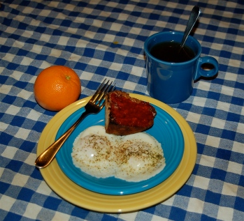 Eggs for breakfast.