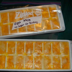 4. pour into ice cube tray