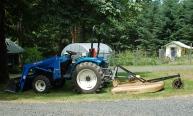 mowing pastures