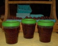 triple berry freezer jam