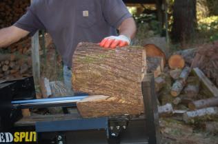 splitting maple firewood