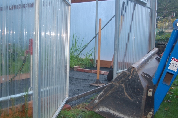 hoophouse- potting area floor construction