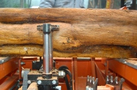clamping log in place