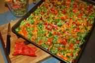 sweet peppers for the freezer