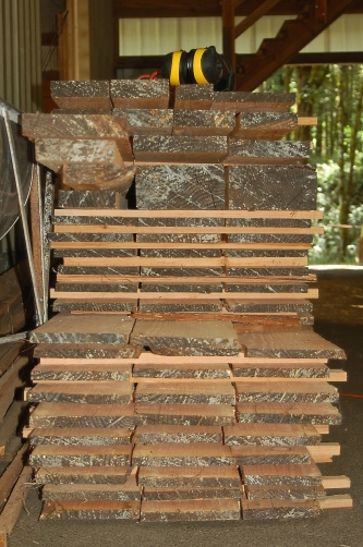 milled lumber stack
